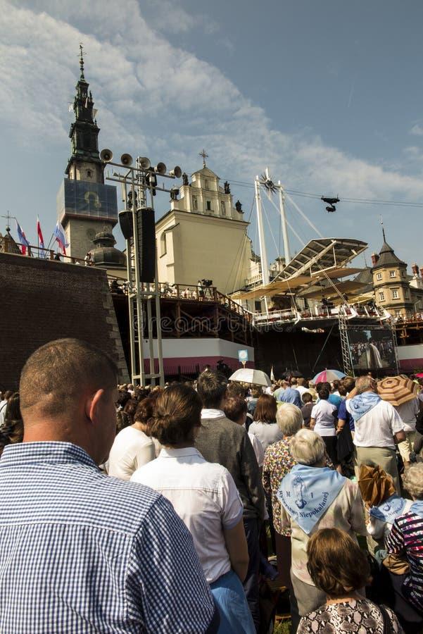 Czestochowa, Польша, 26-ое августа 2017: Юбилей 300 годовщины стоковые фотографии rf