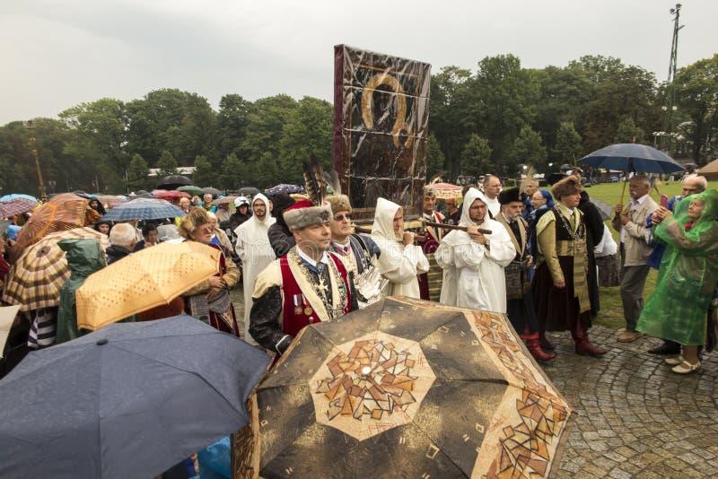 Czestochowa, Польша, 26-ое августа 2017: Юбилей 300 годовщины стоковое фото