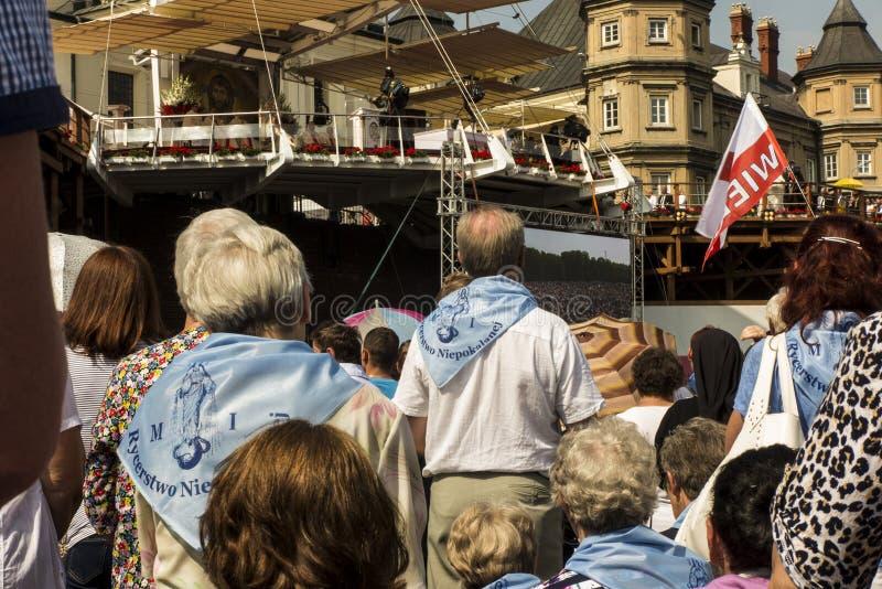 Czestochowa, Польша, 26-ое августа 2017: Юбилей 300 годовщины стоковые изображения