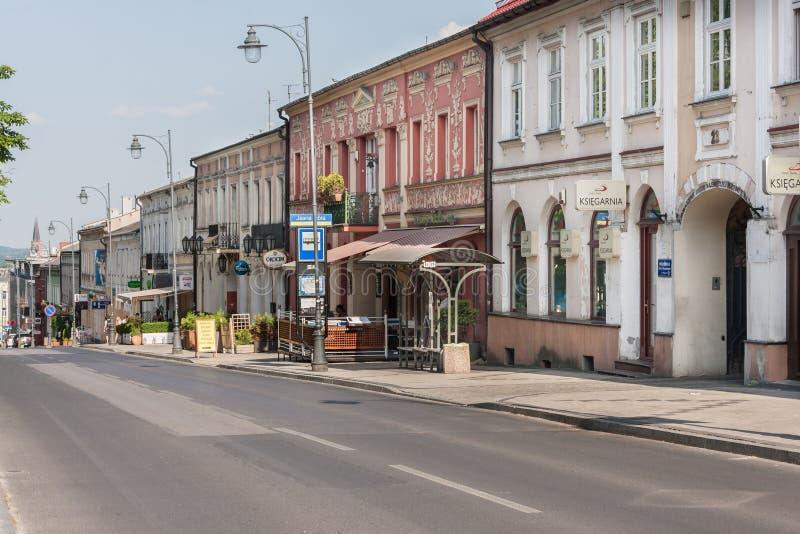 Czestochowa, Польша - 12-ое июня 2019: Улица 7 арендуемых квартир стоковое изображение