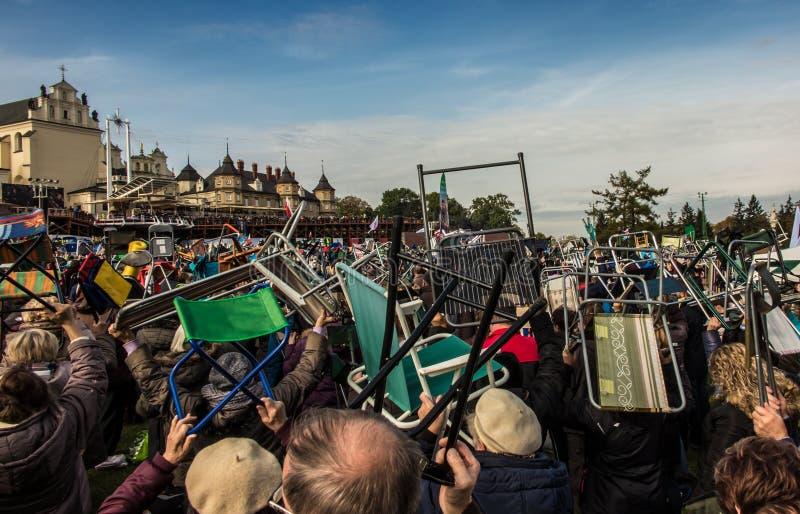 Czestochowa, Польша - 15-ое октября 2016: Объединенное искупление, все-da стоковые фотографии rf