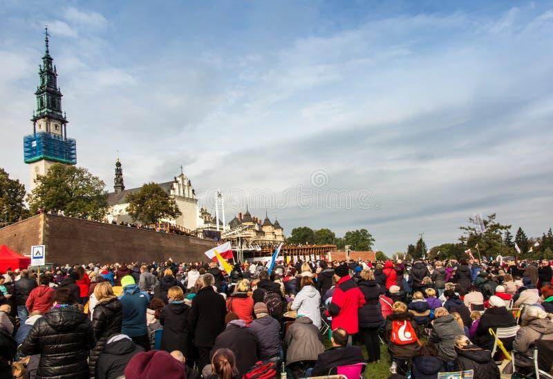 Czestochowa, Польша - 15-ое октября 2016: Объединенное искупление, все-da стоковое фото rf