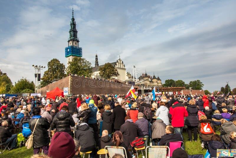 Czestochowa, Польша - 15-ое октября 2016: Объединенное искупление, все-da стоковые фото