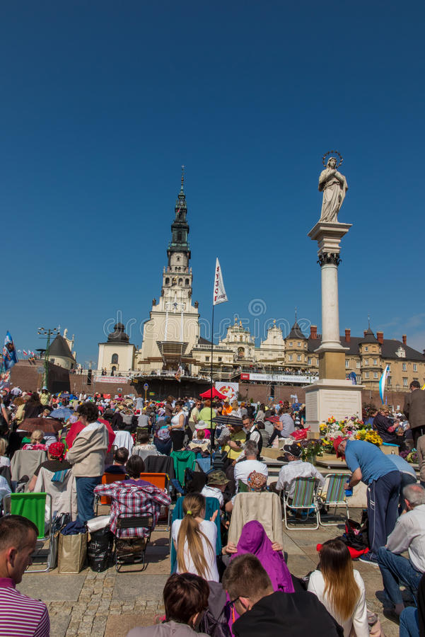 CZESTOCHOWA, POLAND - May 21, 2016: Vigil Catholic Charismatic R royalty free stock image