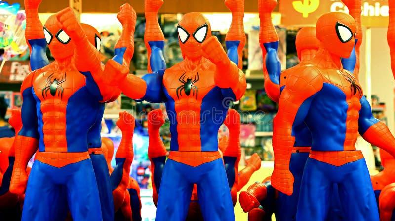 Czlowiek-pająk klingerytu zabawki zdjęcia royalty free