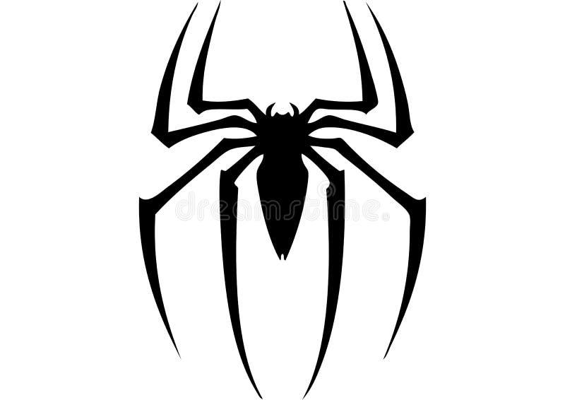 Czlowiek-pająk logo, bohater ilustracji