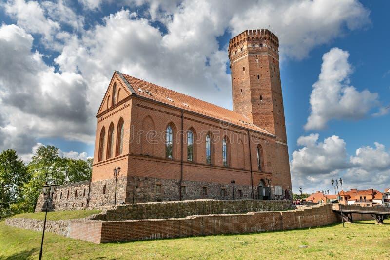 Czluchow, Pomeranian/Pologne - 8 août 2019 : Château Teutonic en Europe centrale Vieille forteresse établie de la brique rouge photo stock