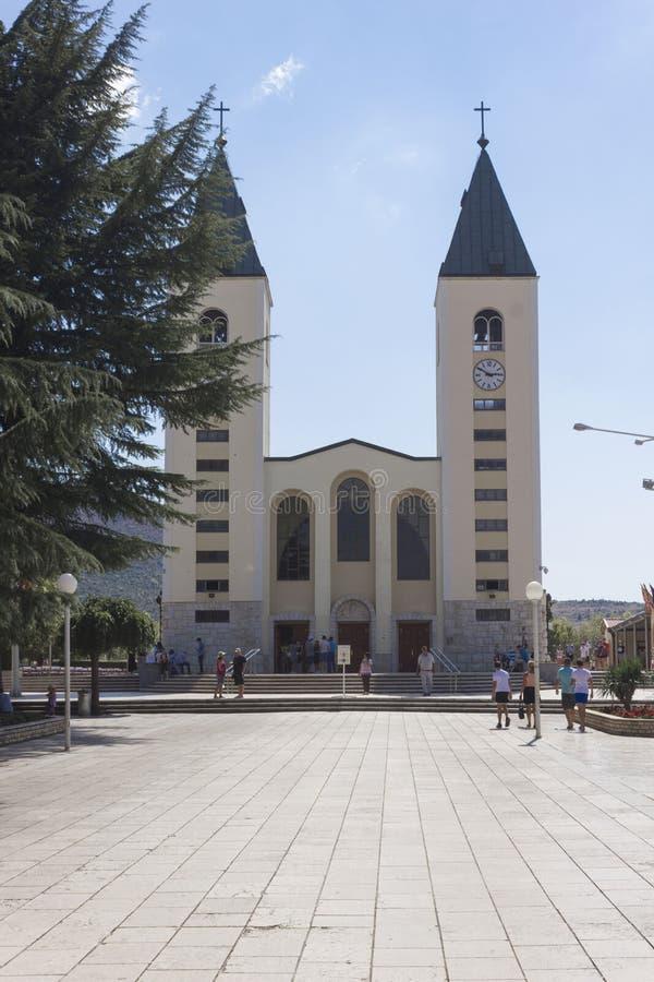 Czołowy widok świętego James kościół zdjęcie royalty free