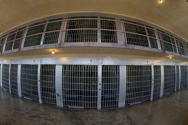 Czołowy widok cele więzienne zdjęcia royalty free