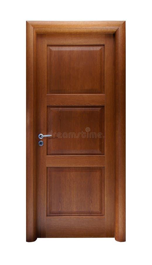 Drzwi odizolowywający na bielu obraz royalty free
