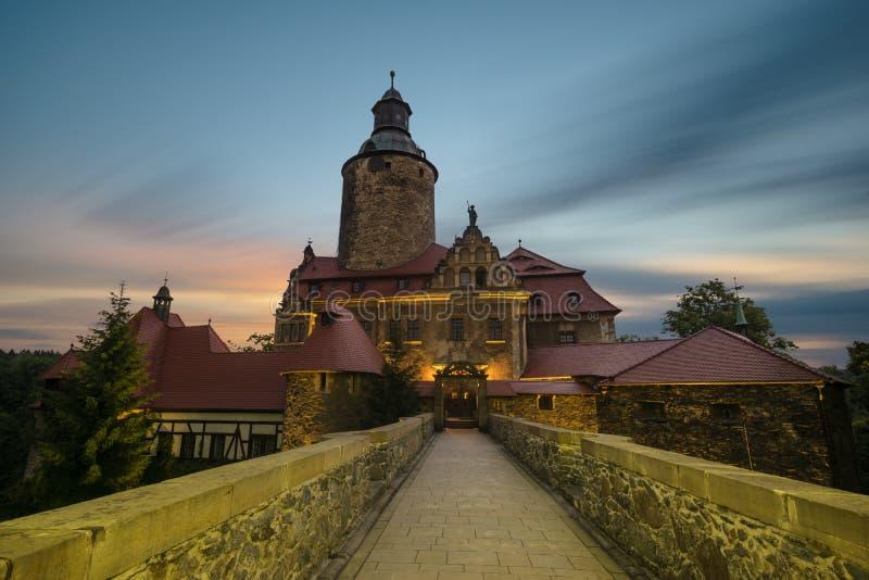 Czocha slott, Silesia, Polen royaltyfri fotografi