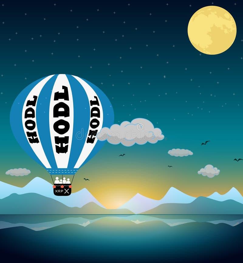 Czochra XRP księżyc royalty ilustracja