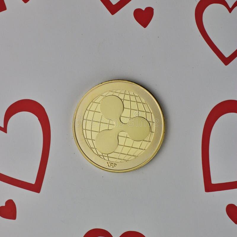Czochry miłości moneta zdjęcie royalty free