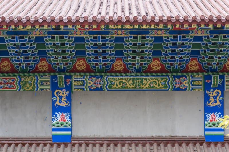 Czopowy struktury zbliżenie Chińscy świątynni okapy zdjęcia royalty free