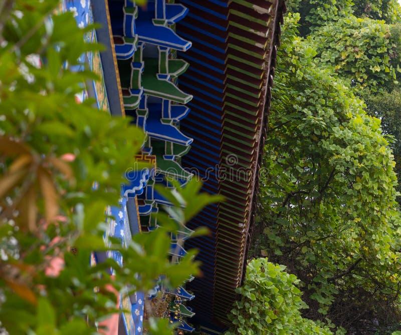 Czopowy struktury zbliżenie Chińscy świątynni okapy obrazy stock
