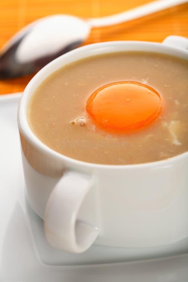 czosnek śmietankowa zupy zdjęcia stock