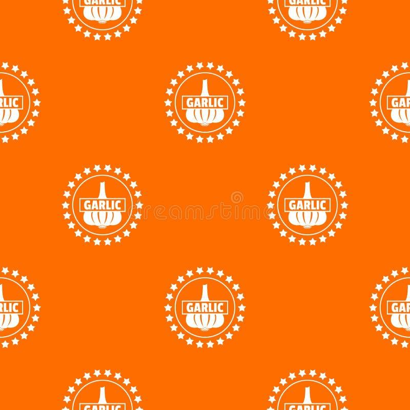 Czosnek deseniowa wektorowa pomarańcze ilustracja wektor