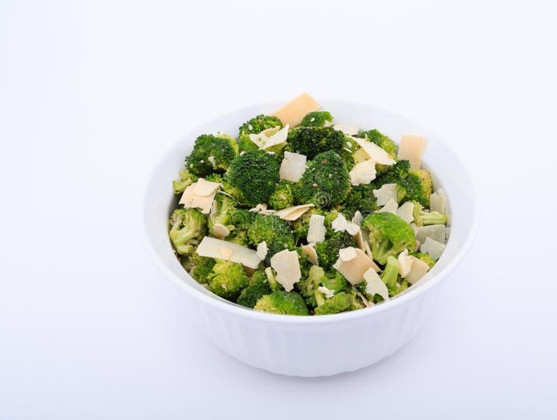 Czosnek i Parmezański na brokułach zdjęcia stock