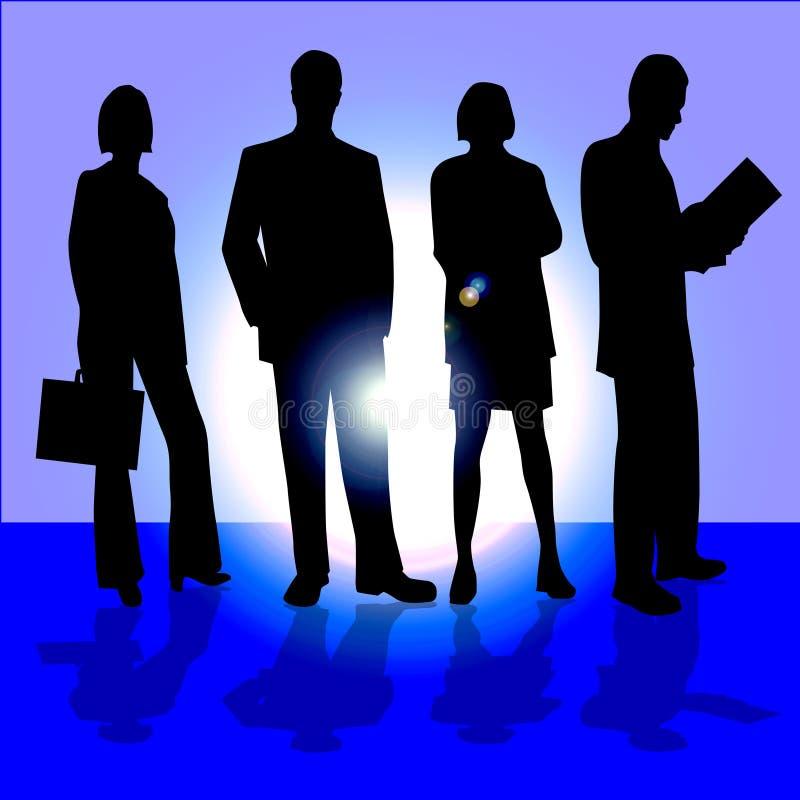 czterech ludzi biznesu royalty ilustracja