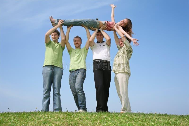 czterech przyjaciół dziewczyna zdjęcie royalty free