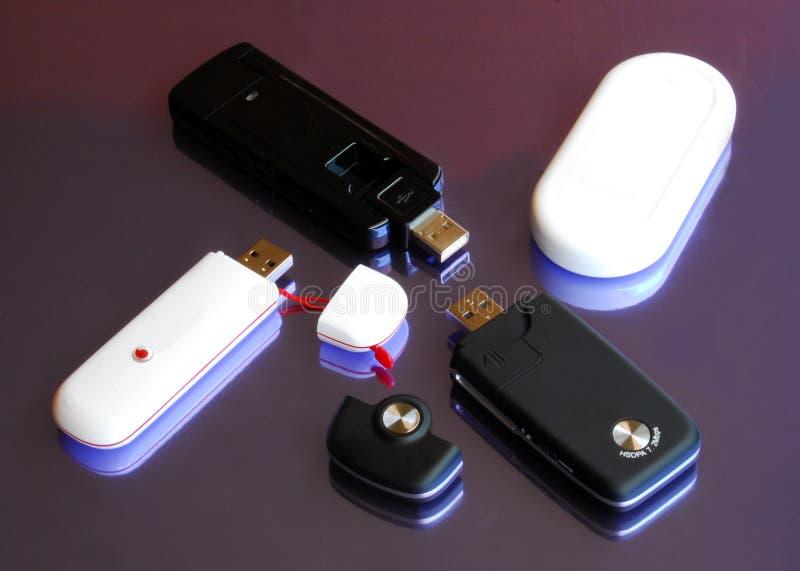 cztery 3g modemu klucz usb obrazy stock