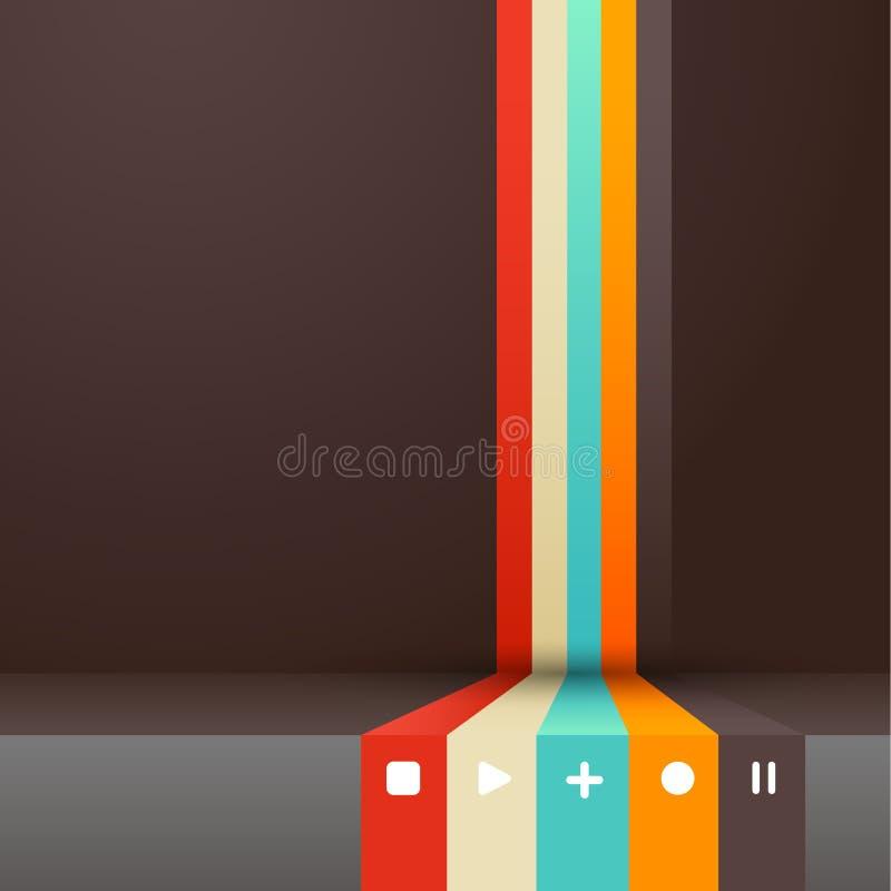 Cztery barwiącego lampasa z miejscem dla twój swój teksta. royalty ilustracja