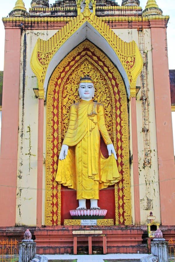 Cztery Buddha wizerunek, Bago, Myanmar obrazy stock