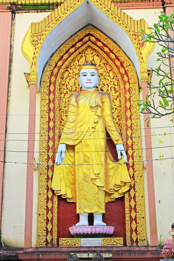 Cztery Buddha wizerunek, Bago, Myanmar obraz royalty free