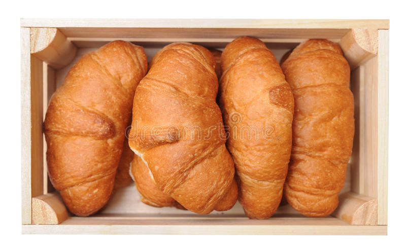 Cztery croissants obraz stock