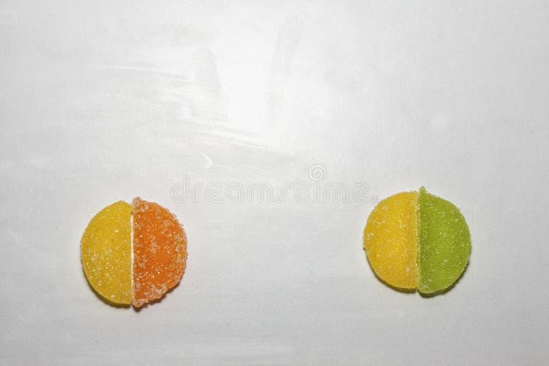 Cztery Cukrowego cukierku kształtującego jako dwa okręgu zdjęcie royalty free