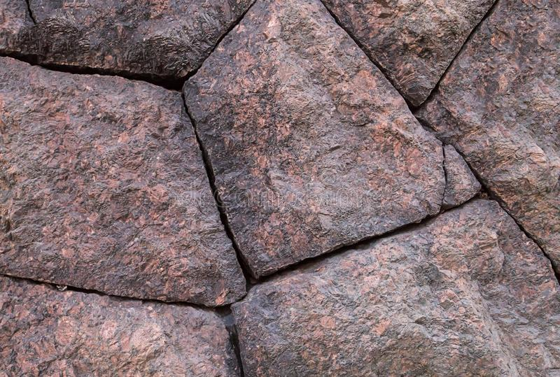 Cztery czerwieni kamienia bloku bazy podstawy brown panelu naturalny tło zdjęcia stock