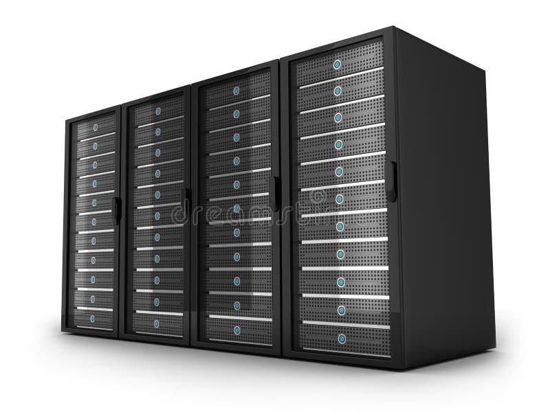 Cztery duży serwer ilustracja wektor