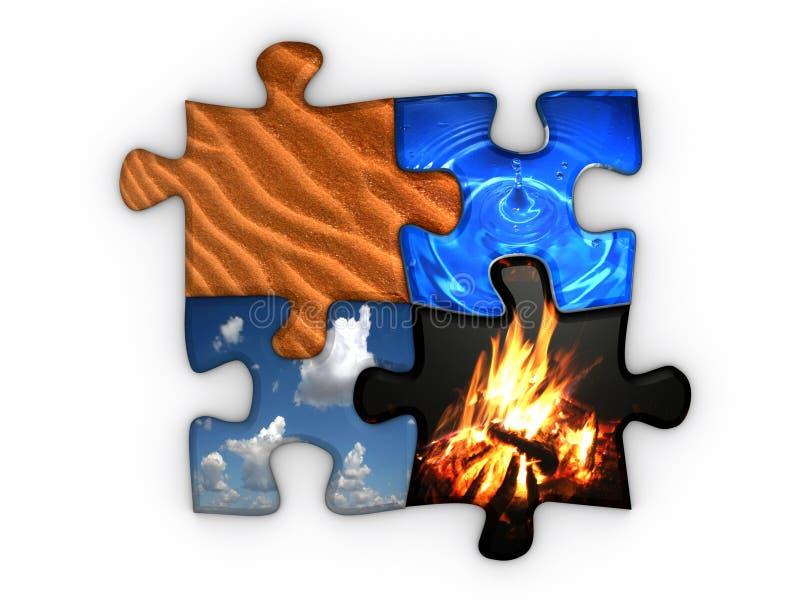 cztery elementy royalty ilustracja
