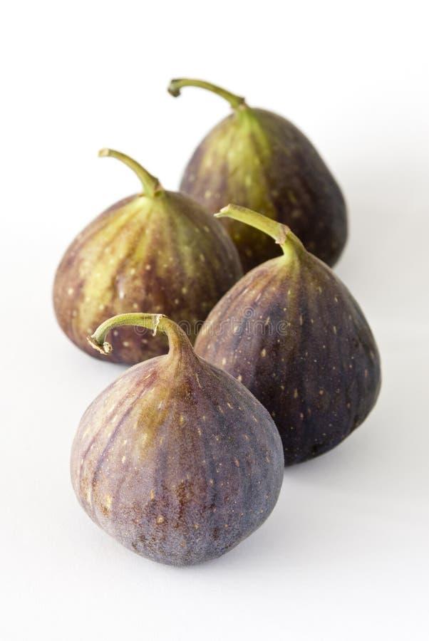 Cztery figi owoc na białym tle obraz royalty free