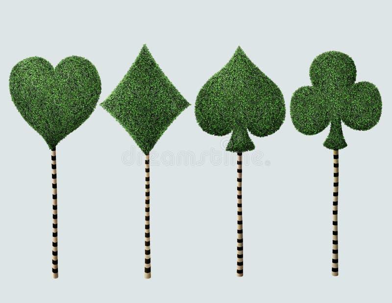 Cztery galanteryjny drzewo ilustracji