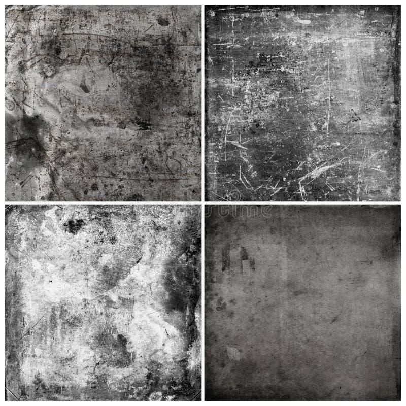 Cztery grunge tekstury zdjęcia royalty free