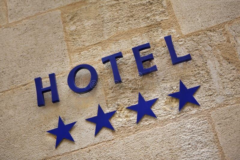 Cztery gwiazdy hotelowej obraz stock