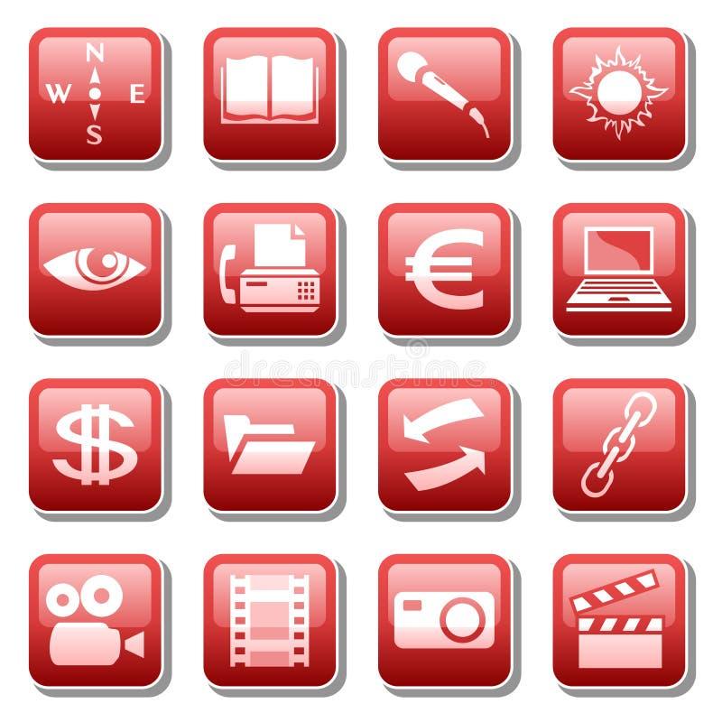 cztery ikon część sieć royalty ilustracja