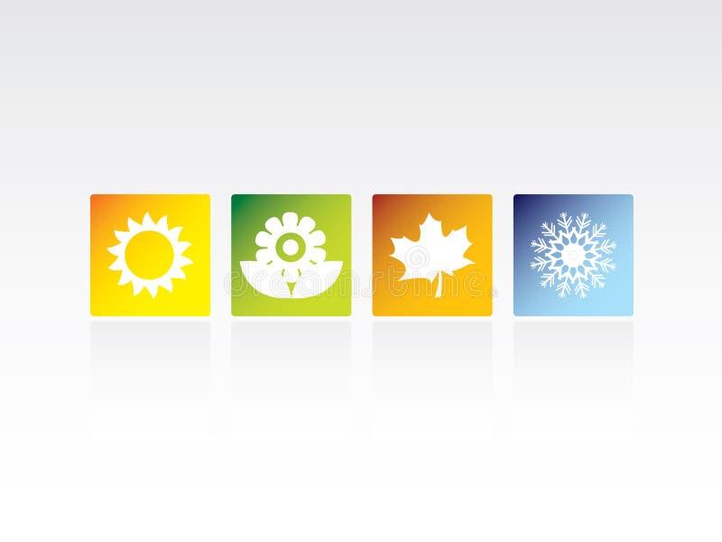 cztery ikon sezon ilustracji