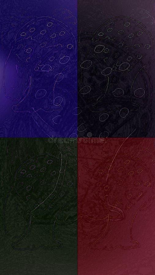 Cztery kawałka zdjęcie stock