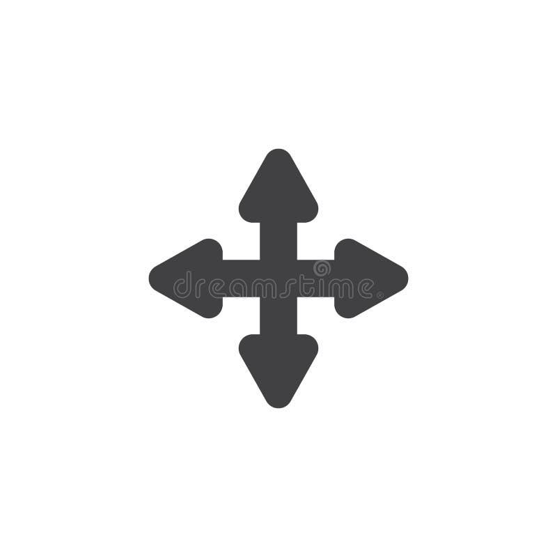 Cztery kierunek strzał wektoru ikona ilustracja wektor