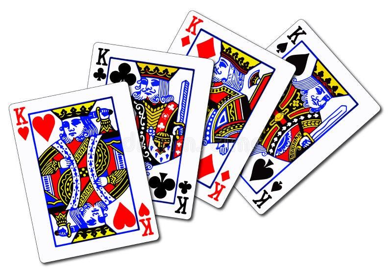 cztery króle ilustracja wektor
