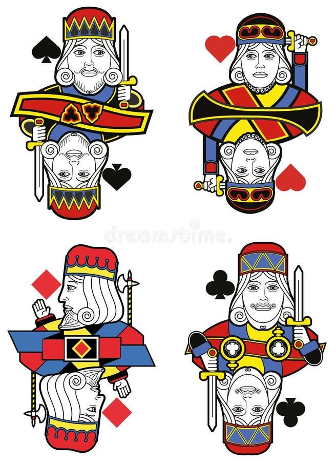 Cztery królewiątka żadny karta royalty ilustracja