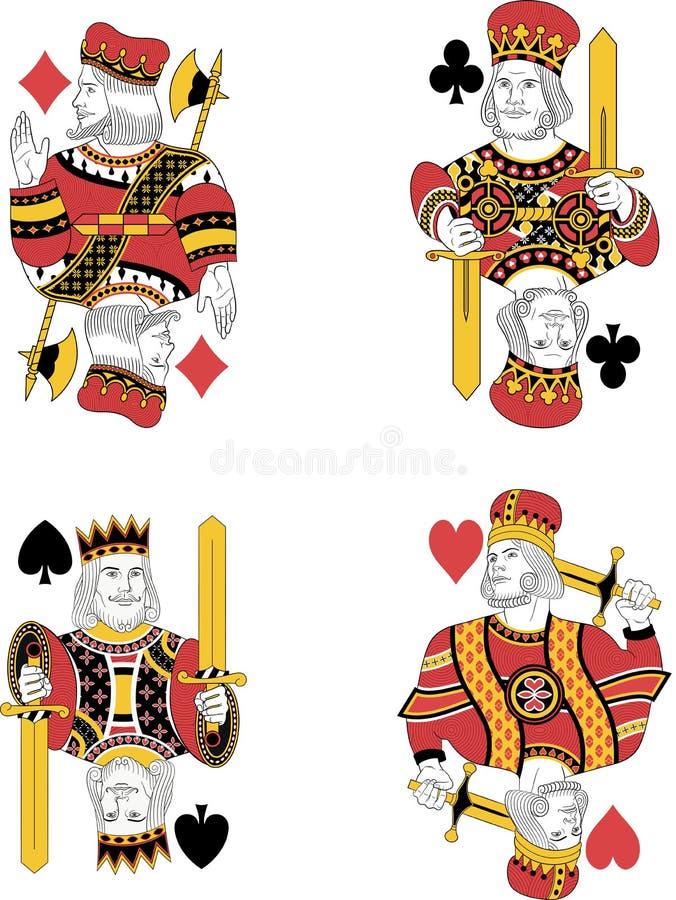 Cztery królewiątka żadny karty ilustracji