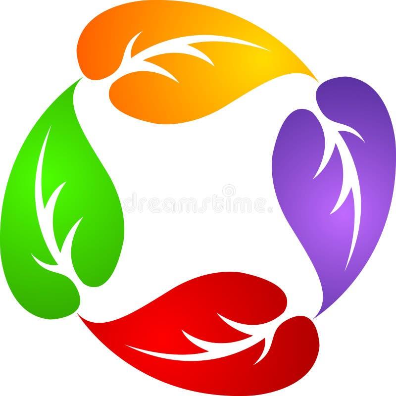 cztery liść logo ilustracja wektor