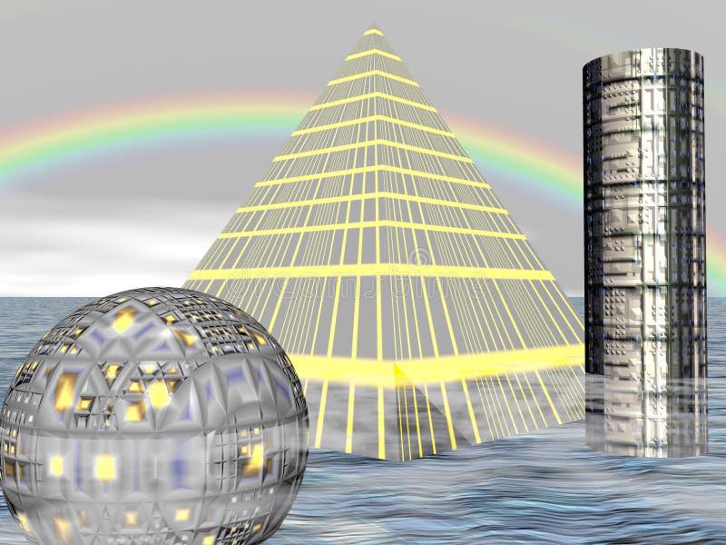 cztery miasta przyszłość ilustracji