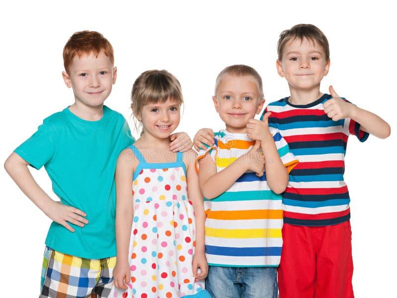 Cztery mody rozochoconego dziecka zdjęcie stock
