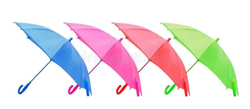 Cztery parasola odosobniony fotografia royalty free