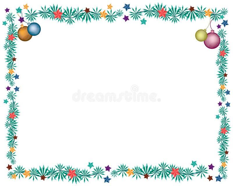 Cztery piłek Bożenarodzeniowa dekoracja na jodle Kapuje Borde ilustracja wektor