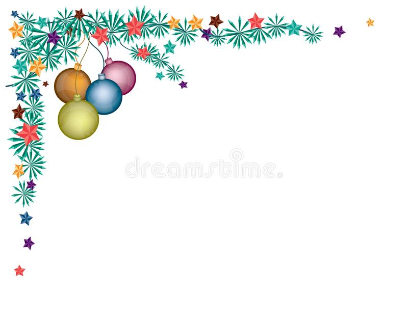 Cztery piłek Bożenarodzeniowa dekoracja na jodle Kapuje Corne ilustracji